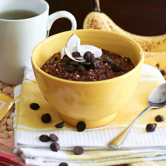 Chocolate and Banana Overnight Oats-1 (Sonia! The Healthy Foodie) Tags: breakfast healthy chocolate cereal banana oatmeal cocoa carob overnightoats