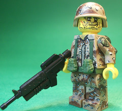 US Army Grenadier, circa Desert Storm (CrazyBrck) Tags: lego it custom nailed minifigure brickarms crazybrick