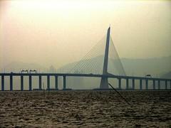 Shenzhen Bay Bridge, Lau Fau Shan, New Territories, Hong Kong (Snuffy) Tags: hongkong newterritories laufaushan worldtrekker shenzhenbaybridge