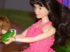 Doll cake (carinkyle) Tags: pink cake frogs dollcake kidscake