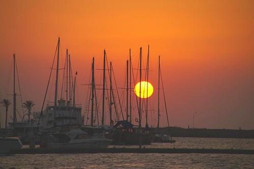 Sunset at Yalıkavak by aspendos.