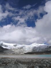 Glacial Lake (PA150042) (GlobalGoebel) Tags: travel mountain lake snow man mountains trekking trek landscape snowman bhutan hiking himalaya himalayas glacial lunana himalayanexpeditionscom joepilaar beneathblossomrain canadianhimalayanexpeditions