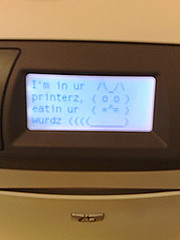 hacked printer
