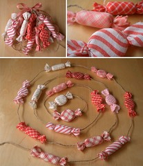 Peppermint garland (PatchworkPottery) Tags: christmas candy handmade crafts country decoration garland ornament fabric peppermint