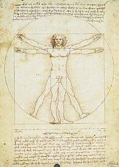 da vinci leonardo proportions of the human figure painting (by sheltercrow)
