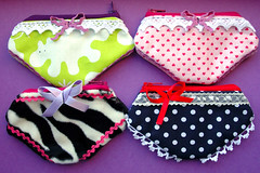 panties pouches (::smyii::) Tags: panties fabric cotton pouch ribbon pouches handmadediy