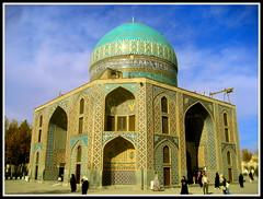 (Alizadeh100) Tags: old blue light sky color yellow architecture clouds canon religious photography daylight photo shrine warm bluesky architect mashhad rabi   khaje