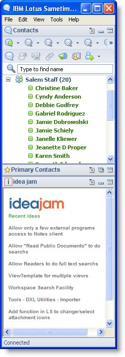 Idea Jam Sametime Plugin