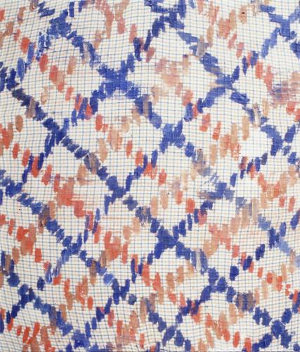 This checked pattern with Aka-iro and Ao-iro is this checked pattern with Aka-iro and Ao-iro. この赤色と青色の格子模様は、この赤色と青色の格子模様である。