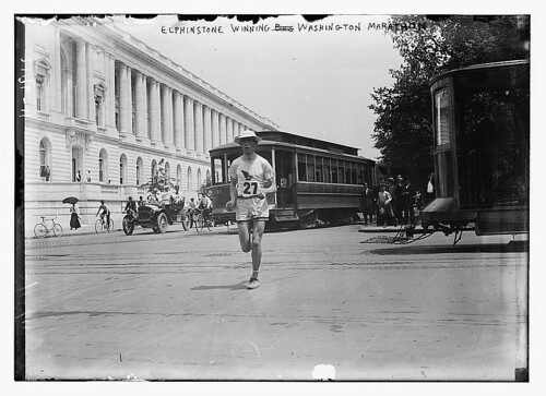 Elphinstone Winning Washington marathon  by The Library of Congress from Flickr
