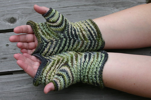 Palm side of the chevron mitts