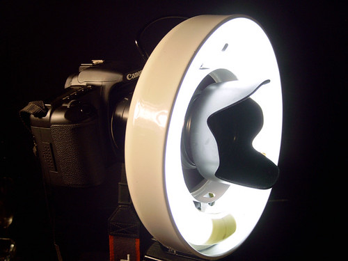 Canon 30D with homemade ring light