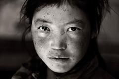 A Ladakhi Girl ( Poras Chaudhary) Tags: portrait bw india white black monastery leh ladakh hemis toning ladakhigirl