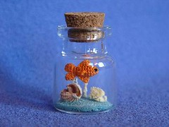 Quattordici (MUFFA Miniatures) Tags: cute aquarium miniature funny goldfish crochet amigurumi redfish muffa