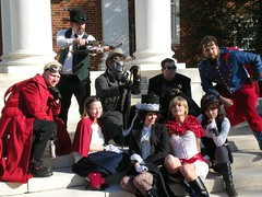 Hero Beat (Clockwork_Dandy) Tags: whatthehellcon2008 steampunk steampunkjusticeleague justiceleague cosplay costumes costume mike annie alison nick leah michelle nightwing zatanna powergirl flash batgirl supergirl theguildofjusticemindedcitizenry jason greenarrow jared superman matt sandman