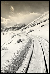 Destiny (Little Laddie) Tags: railroad snow mountains nature clouds train traintracks mywinners abigfave anawesomeshot