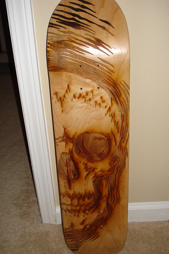 Scott Campbell laser-etched skateboard