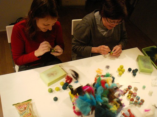 Felting course at Duduá