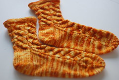 nutkin sock (just maryse) Tags: fire knitting sock yarn sundara nutkin heelflap mosaicfire