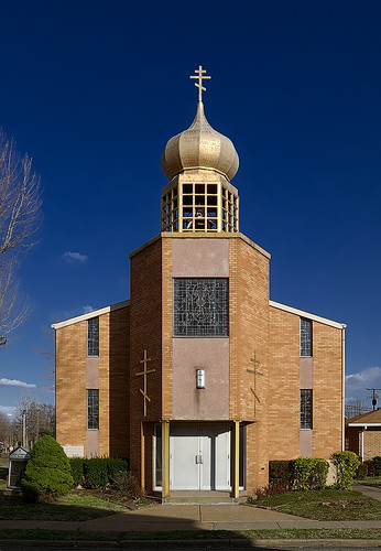 Nativity of Virgin Mary Eastern Orthodox Church, in Madison, Illinois, USA - exterior
