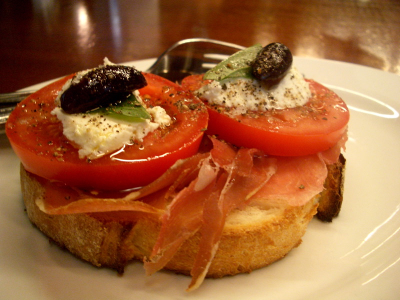 Prosciutto bruschetta at Journal