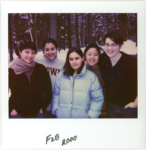 2000 - Jess with college friends