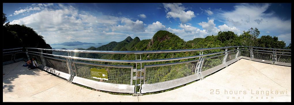 Gunung Mat Cincang End of Suspension Bridge