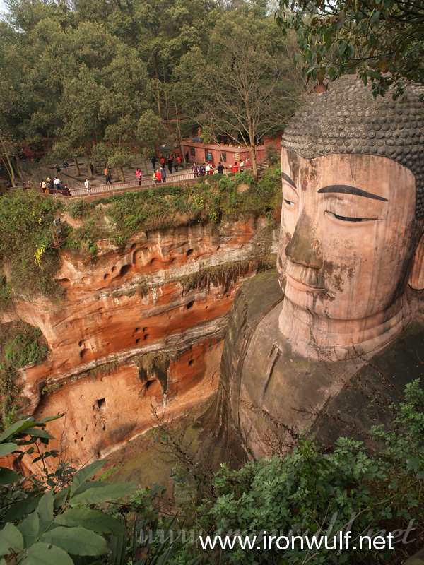 Giant Famous Rider Waite 78 Oversized Cards Tarot Deck: China: Giant Buddha Of Leshan 乐山大佛