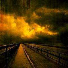 The Bridge Over (Olli Kekäläinen) Tags: bridge sky clouds photoshop dark square vanishingpoint nikon scenery 100v10f plus d200 2008 500x500 firstquality mywinners abigfave artlibre ok6 superbmasterpiece infinestyle ollik winner500 alarecherchedutempperdu 20080422 100commentgroup goldenart