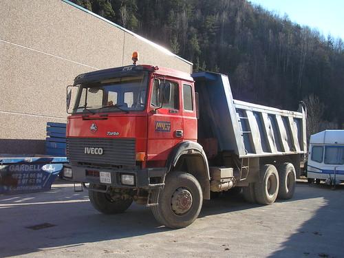 camió Iveco de l'empresa Miquel Gardell de Camprodon