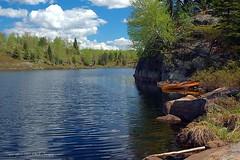 Canoe at Mug Lake (bw0505-01-080) (nibi mocs) Tags: lake nature minnesota outdoors nikond70 bluesky canoe wilderness hdr boundarywaters bwcaw lifeasiseeit platinumphoto anawesomeshot worldwidelandscapes natureselegantshots muglake