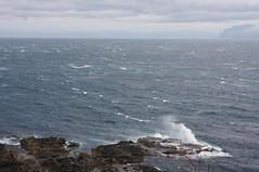 時化の弁慶岬