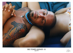 Bei tempi andati - Spagna 2003 (bijan.it) Tags: blue colors tattoo print holidays legs sleep voigtlander scan francesco spagna gettyimages analogical