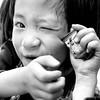 鬼臉 (YENTHEN) Tags: portrait bw smile nikon child 1750 naive tamron 黑白 inocent 人像 500x500 d80 1750mm yenthen
