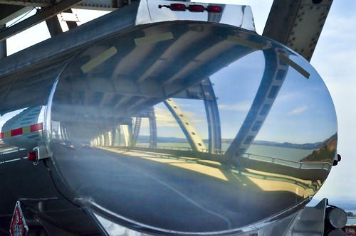 Crossing the Richmond Bridge