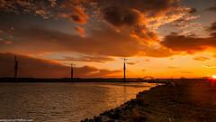 Spike Island sunset (2 of 9) (andyyoung37) Tags: merseyestuary merseygatewaycrossing reflections rivermersey sunset widnes england unitedkingdom gb