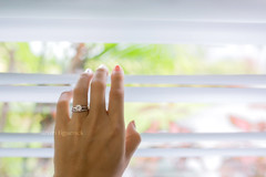 Engagement ring (Yuri Figuenick) Tags: engagementring ring diamond jewelry hand finger love marriage window blind woman bodypart eos 5d markiii focus bokeh