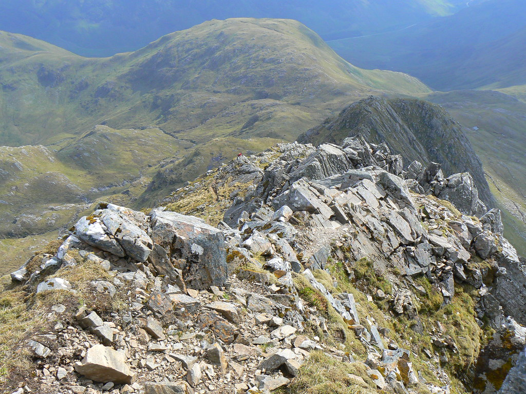 View down the Forcan Ridge