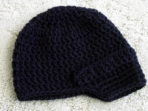 Newsboy Baby Hat Pattern - Dark Gray