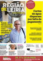 Capa do Região de Leiria da edição 3871 de 27 de Maio 2011