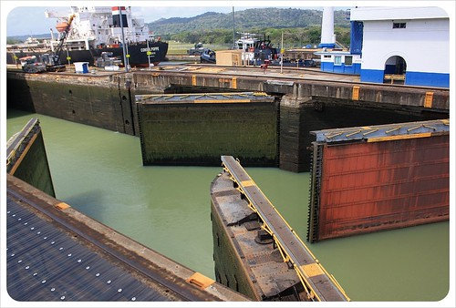 Gatun locks close-up