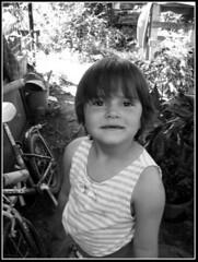 mamnl (janka_) Tags: summer blackandwhite bw cute girl canon powershot a60 janka