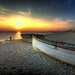 Chesil Beach long boat by petervanallen