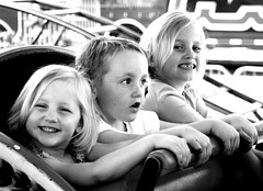 hehe (GodsEmerald) Tags: bw cute kids fun outside monochromatic abigfave familygetty2010