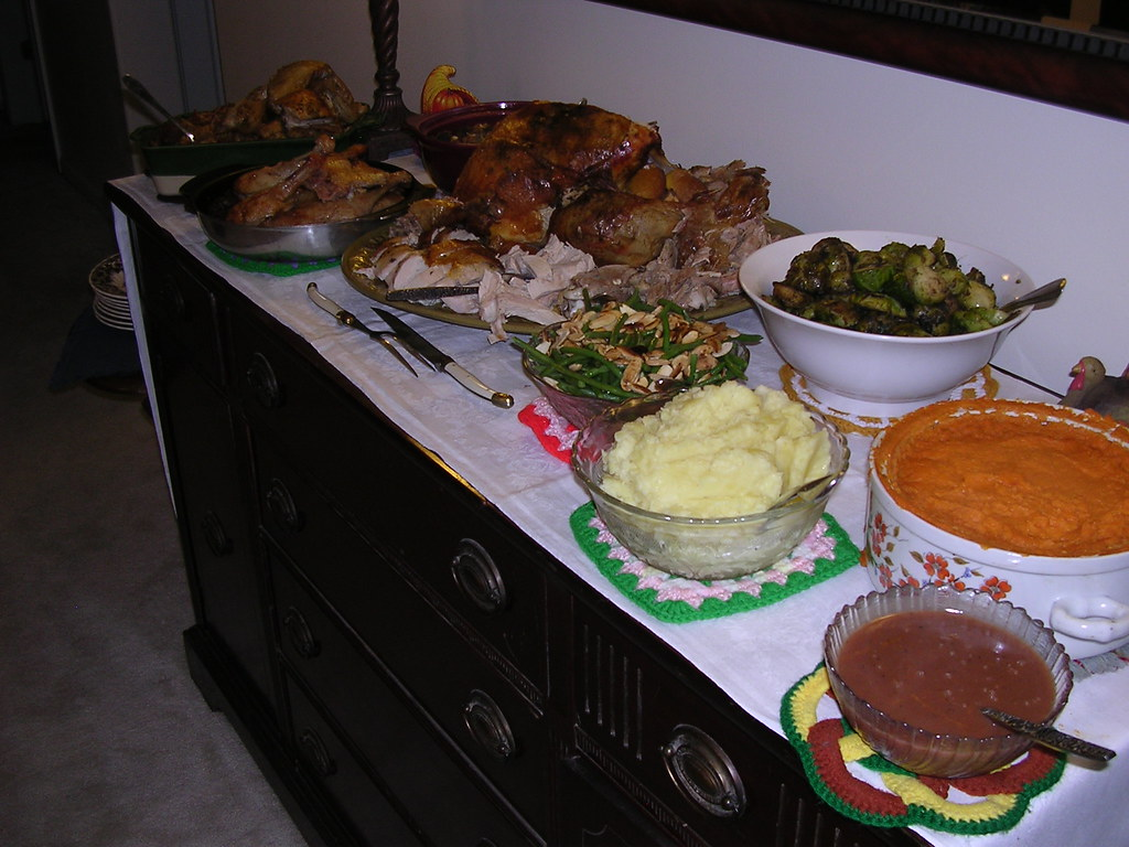Thanksgiving spread 2007