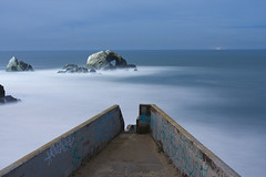 Above Sutro Baths (Andy Frazer) Tags: sanfrancisco nightphotography abandoned ruins sutrobaths cliffhouse birdisland ggnra adolphsutro windsandandwater