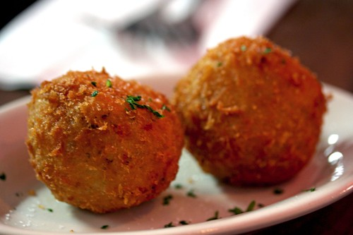 Our risotto balls (aka Arancini)