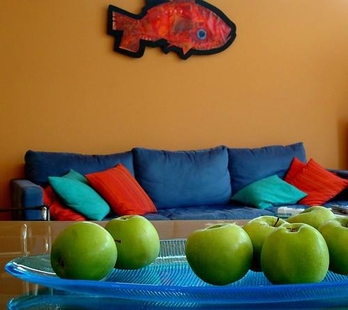 apples - sofa - fish