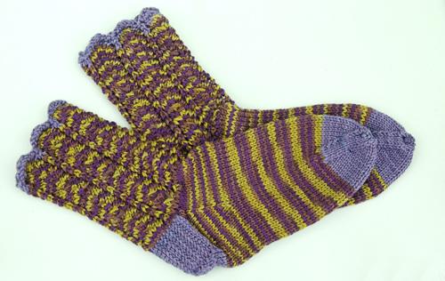 Lulu Socks=RazorShell Cuffs