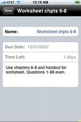 Homework Agenda Update 1.0